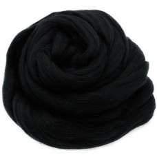 Vilnas ķemmlente pussmalka melns, 100g