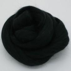 Vilna filcēšanai pussmalka melns, 50g