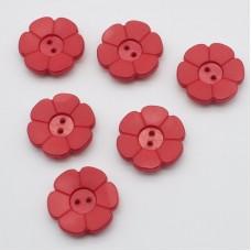 Poga N8 sarkanā puķe 1gab.