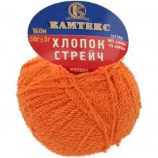Streč kokvilna apelsīns 068, 50g