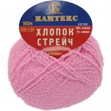 Streč kokvilna rozā 056, 50g