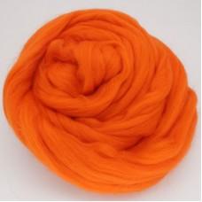 Pussmalka vilna filcēšanai oranžs, 100g