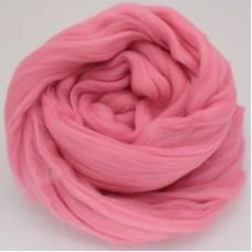 Rozā smalka merino vilna filcēšanai, 100g