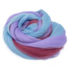 Vilnas ķemmlente pussmalka multicolor 6081, 100g