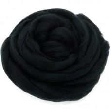 Smalka merino vilna filcēšanai melns, 100g