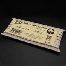 Kokvilnas lentes - smilškrāsas 5mm / 20m